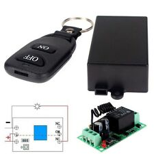 12V 10A Relay Wireless RF Remote Control Switch Transmitter + Receiver Black TR
