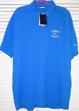 Nike GOLF dri-fit MEN'S BLUE Samcro Golf  tournament ATHLETIC Polo Shirt , XL