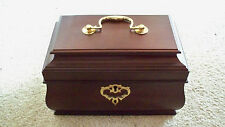 Colonial Williamsburg Mahogany Rectangular Jewelry Box NEW Tea Chest Caddy Lock