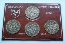 1980 MOSCOW SUMMER & US WINTER OLYMPIC GAMES ISLE OF MAN CROWNS - IoM MANX