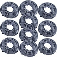 10 XLR shielded balanced patch cords powered speaker cable wire 25 ft foot feet