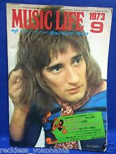 Music Life 1973 09 Japan Magazine Book Rod Stewart Osmonds Roger McGuinn T.Rex