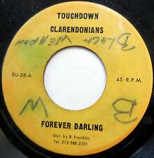 CLARENDONIANS 45 Forever Darling REGGAE Jamaica All Stars TOUCHDOWN 1972 c1613