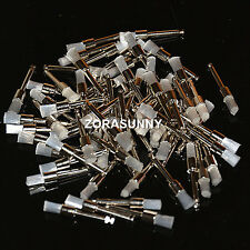 100 Pcs Disposable Dental Prophy Brush White Nylon Flat Type Polishing Brush
