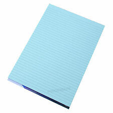 5 x Memory Aid A4 Blue 100 Page Paper Notepad Refill Memo Lined Writing Pads