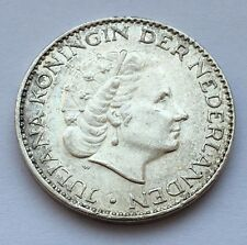 1955 NETHERLANDS SILVER GULDEN COIN FREE SHIPPING