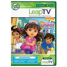 LeapFrog LeapTV DORA AND FRIENDS Active Video Game New MATHEMATICS  4-7 YRS