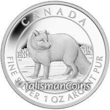Canada 2014 Wildlife Treasures #2 Arctic Fox on the Prowl $5 1 Oz Silver Proof