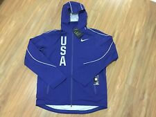 Nike Hypershield Olympic Team USA Jacket Men M Blue 806908-455 $350 Running NWT