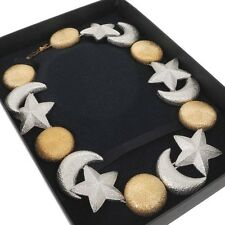 Vintage Christian Dior Moon Sun Star Motif Chunky Necklace