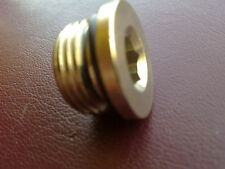 Nickel Plated Brass 1/4 Bsp Male plug with O Ring Air