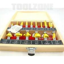 "Brand New 15PC 1/2"" Professional Shank Tungsten Carbide Router Bit Set and Case"