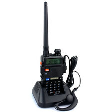 Pofung VHF+UHF Talkies-walkies 5W FM 2-way Radio 128CH 136-174+400-520MHz UV-5R