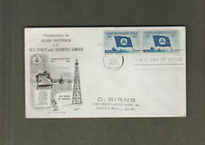 US FDC US COAST AND GEODETIC SURVEY DOUBLE STAMP
