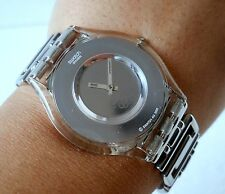 RARE SWATCH IRONY SWISS QUARTZ BEAUTIFUL ULTRA SLIM  GIRLS WRIST WATCH STEEL