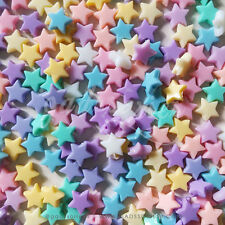 100 Mix 10mm Star Colorful Pastel Bead Girl Jewelry DIY Handmade Materials Craft