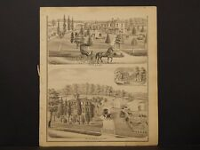 Michigan, Lenawee County Map, 1874 Engravings, Dover, Res. of B. Shaw K3#69