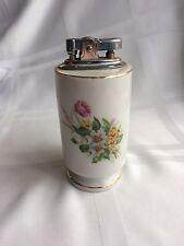 Antique 1940s Vanity Lighter, Blue Letter Japan