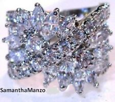 5CT HUGE CZ MARQUISE COCKTAIL CLUSTER BLING RIGHT HAND RING SIZES 5,6,7,8,9,10