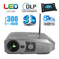NEW DLP HD Blu-Ray 3D Android 4.4 Bluetooth WiFi Home Movie Theater Projector