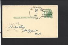 CHEMUNG,ILLINOIS 1941 GOVERNMENT POSTAL CARD, McHENRY CO. DPO 1845/1953.
