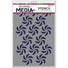 Ranger Ink Dina Wakley Media Stencils Pinwheels mds49869