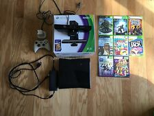 Microsoft Xbox 360 S with Kinect 4 GB Matte Black Console W/ 8 Games & More!