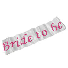 White Pink Bride To Be Sash Girls Hen Night Bachelorette Bridal Shower Party OZ