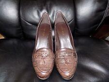 Nine West Sammie 3Y Brown Croco Size 9M Women's EUC