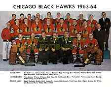1964 CHICAGO BLACK HAWKS TEAM PHOTO 8X10