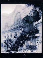 POST CARD OF THE 1895 MONTPARNASSE RAILROAD DISASTER IN PARIS AT THE STATION