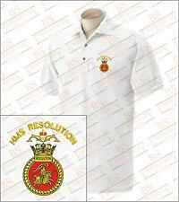 HMS Resolution Embroidered Polo Shirts