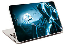 blue grim riper skull laptop skin sticker notebook different styles a14 apple