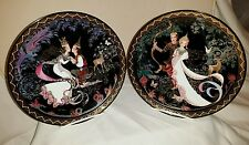 Set of 2 -ROYAL PORCELAIN Kingdom of Thailand Siam Love Story Plates # 1 and 2