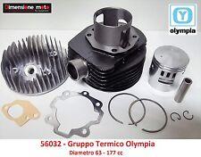 Gruppo Termico Cilindro + Pistone Olympia D63 = 177cc per LML Star 125 Deluxe 2T