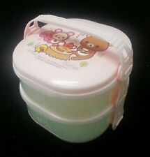 2-tier 2 Layers San-X Rilakkuma Relax Bear Bento Lunch Box Food Container Spoon