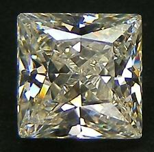 EXCELLENT CUT PRINCESS 6x6 MM. YELLOW CANARY RUSSIAN CZ