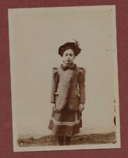 c.1906. German Young Lady fashion hat fur lined jacket   photograph q.891