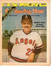 Sporting News 7/20 1974,Baseball magazine, Dick Williams, California Angels ~ Gd