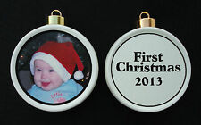 Custom Photo Ornament *Personalized* Christmas, Holiday, Family, Friends, Pet