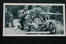 Tracked Anti Tank Gun   British Army  1930's Vintage Photo Card
