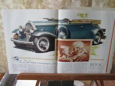 Vintage Print,BUICK,Double Page,.c1930s,Saturday Evening Post