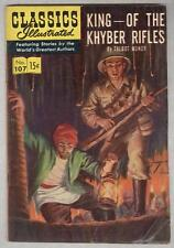 Classics Illustrated #107 May 1953 G/VG King of the Khyber Rifles