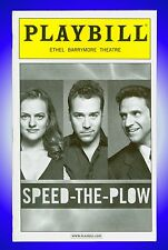 Playbill + Speed the Plow + Elisabeth Moss , Jeremy Piven , Raul Esparza