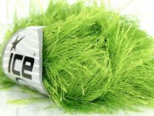 38Yds 50gr Lime Green Extra Long Eyelash Yarn Ice Fun Fur 17154