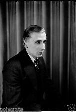 Portrait studio jeune homme - Ancien négatif 13x18 photo verre an. 1920 30