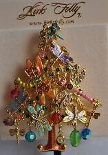 KIRKS FOLLY CHRISTMAS DRAGONFLY TREE GOLD  TONE