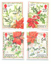 Winter Flowers and Plants-mnh-Jersey-set of 4-1999