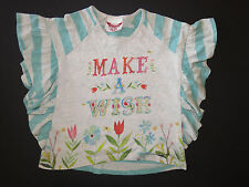 Paper wings girl organic cotton flutter bat-wing top shirt tee make a wish 10 12