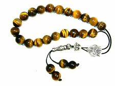 0971 - Loose String Greek Komboloi Prayer Beads Worry Beads 10mm Tiger Eye Beads